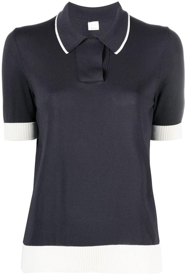 HUGO BOSS Short-Sleeve Knitted Polo Top