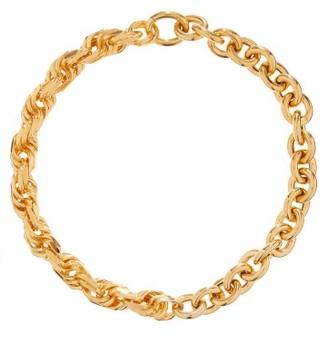 Bottega Veneta Chunky Twisted-link Gold-plated Necklace - Yellow Gold