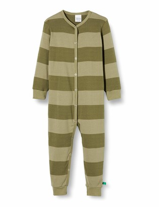 Fred's World by Green Cotton Baby Boys' Stripe Bodysuit Toddler Sleepers