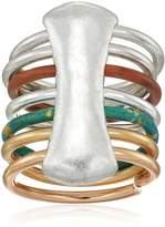 "Robert Lee Morris It's Ringing"" Sculptural Mixed Multi-Row Ring, Size 8.5"