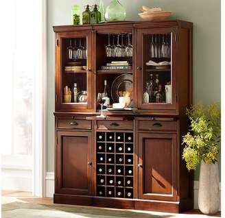 Pottery Barn Glass Door Hutch