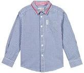 Ben Sherman Blue Tipped Collar Gingham Shirt