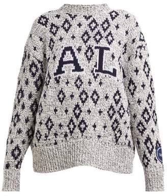 Calvin Klein Yale-jacquard Knitted Sweater - Womens - Black Multi
