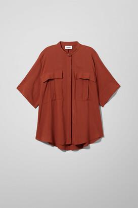Weekday Kendra Short Sleeved Shirt - Orange