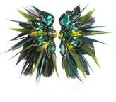 Suzanna Dai Women's Macapa Genuine Feather Earrings