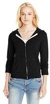 Monrow Women's Super Soft Zip Up Hoody Sweatshirt