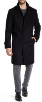 Kenneth Cole New York Walker Wool Blend Button Front Coat