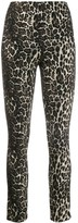 Alice + Olivia Alice+Olivia Connley shimmer leopard trousers