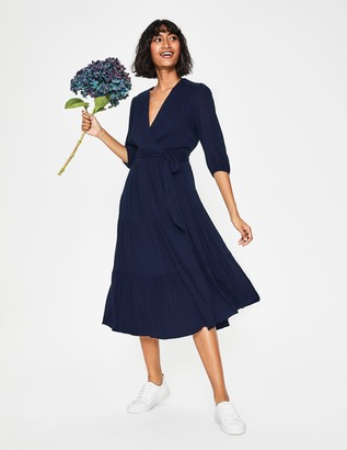 Aurora Midi Wrap Dress