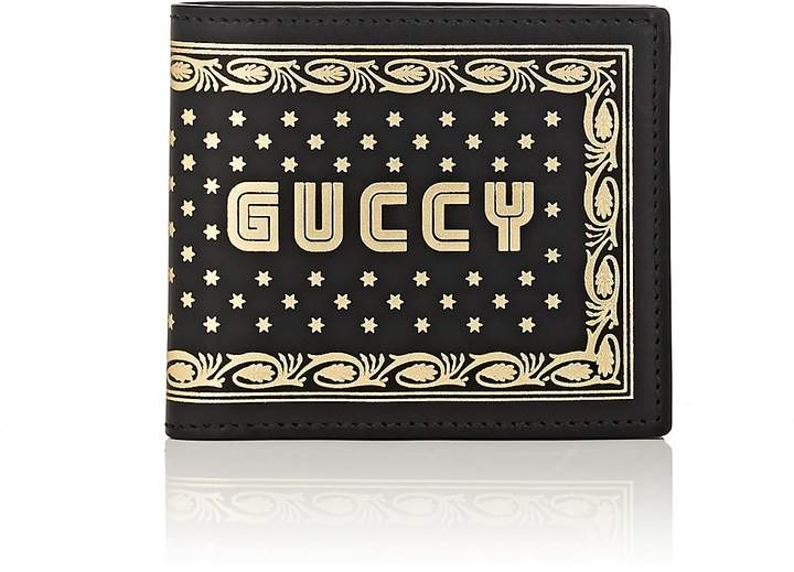 "Gucci Men's ""Guccy Moon"" Leather Billfold"