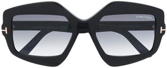 Tom Ford Oversized Geometric Frame Sunglasses