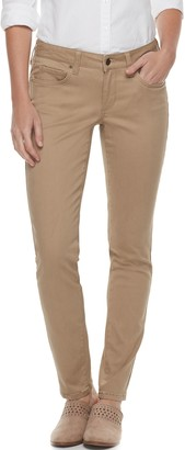 Women's SONOMA Goods for Life Supersoft Midrise Sateen Skinny Pants
