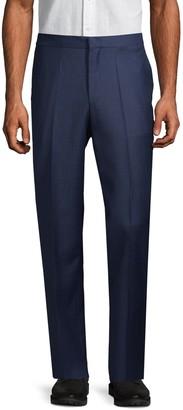 HUGO BOSS Flat-Front Wool-Blend Pants