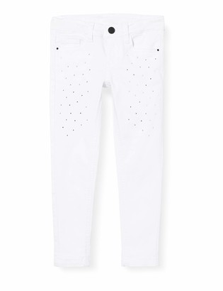 MEK Girl's Pant. Drill Color Stretch Con Strass Trouser