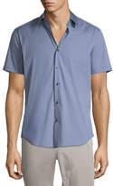 Theory Sylvain S Wealth Short-Sleeve Shirt