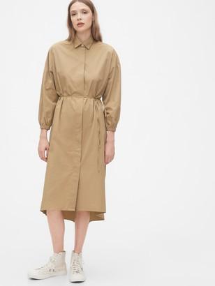 Gap Three-Quarter Sleeve Midi Shirtdress