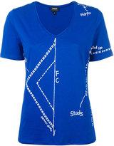 Armani Jeans cut print T-shirt