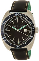 Ted Baker Men&s Black Dial Leather Strap Watch