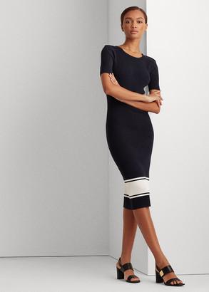 Ralph Lauren Ribbed Cotton-Blend Dress