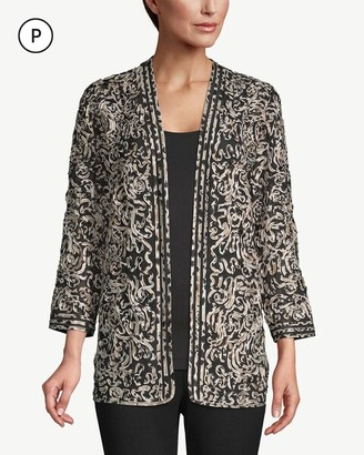 Travelers Collection Petite Printed Soutache Jacket