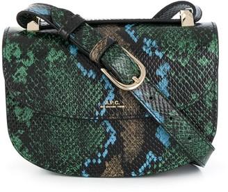 A.P.C. Embossed Snakeskin Effect Satchel Bag