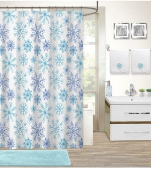 Idea Nuova Holiday Snowflake 17-Pc. Bath Set Bedding