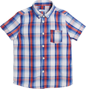 Mayoral Short-Sleeve Plaid Shirt, Size 4-7