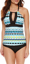 Liz Claiborne Geometric Tankini Swimsuit Top