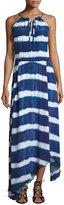 Seafolly Tie-Dye Striped Maxi Beach Dress, Blue/White