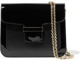 Vanessa Seward Camelia Matte And Patent-leather Shoulder Bag - Black