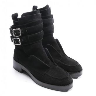 Balenciaga Black Suede Ankle boots
