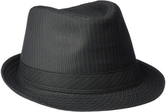 Henschel Hats Henschel Men's Poly/Cotton Stripe Stingy Brim Fedora