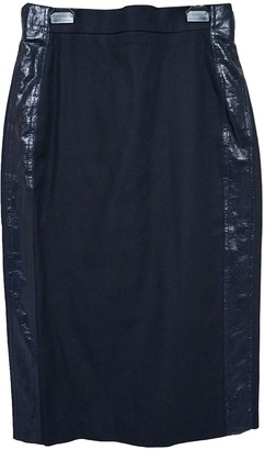Max Mara Navy Cotton Skirt for Women