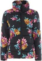 Joules Printed padded coat with faux fur collar