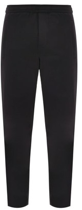 Valentino Vltn-print Loopback-jersey Track Pants - Black Yellow