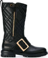 Burberry quilted buckle boots
