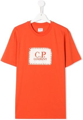 C.P. Company Kids TEEN logo print T-shirt
