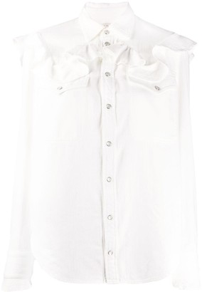 Zadig & Voltaire Fashion Show ruffle detail shirt