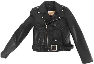 Schott Black Leather Jacket for Women