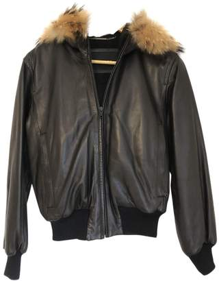 Andrew Marc Brown Leather Leather Jacket for Women