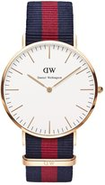 Daniel Wellington Men's Blue/Red/Blue/ Nylon Watch