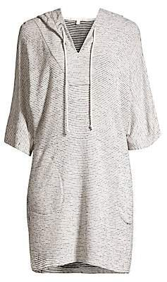 Skin Women's Tori Faded Striped Hoodie Dress