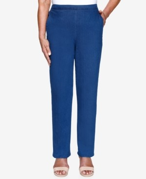 Alfred Dunner Petite Lazy Daisy Proportioned Medium Pull-On Denim Pants