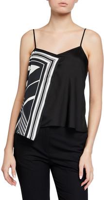 Rag & Bone Isadora Panel-Striped Silky Cami