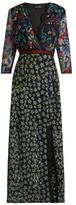 Saloni Jennifer floral-embroidered tulle dress