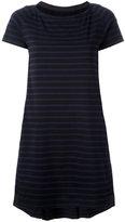 Sacai striped A-line dress - women - Cotton - 2