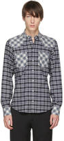 Dolce & Gabbana Blue and Black Check Western Shirt