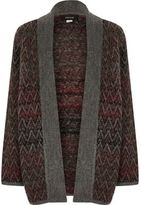 River Island Boys brown ombré knit open cardigan