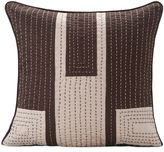 Bed Bath & Beyond SPUNTM by Welspun AppliqueHandcrafted Throw Pillow in Brown/Cream