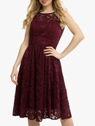 Jolie Moi Fit & Flare Lace Prom Dress